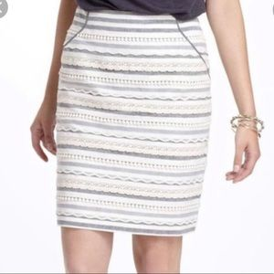 Anthropologie | Tabitha Ribbon Trim Skirt Size 2